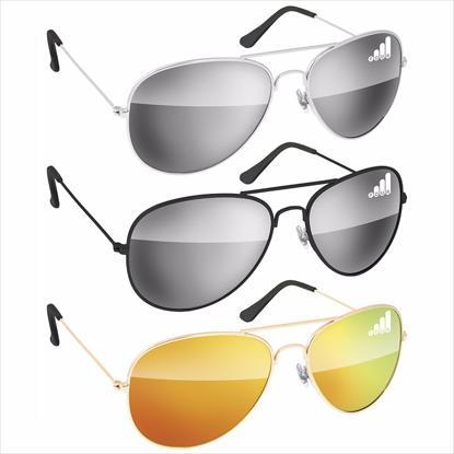 Picture of Metal Aviator Sunglasses - Mirror