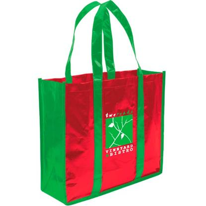 Picture of Laminated Non-Woven 3 Bottles Tote Bag
