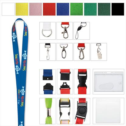 "Picture of 3/8"" Polyester Lanyard"