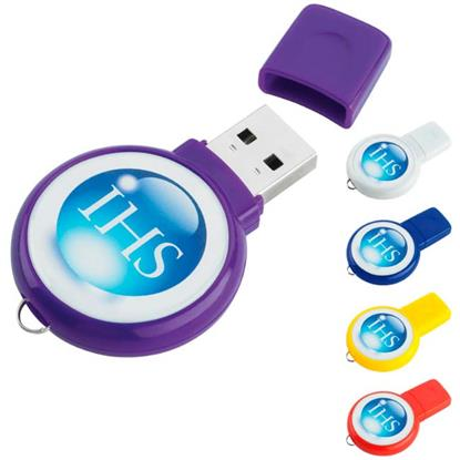 Picture of 8 GB Circle USB 2.0 Flash Drive