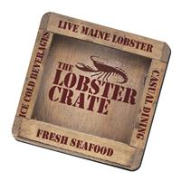 """Picture of BIC® 1/4"""" Fabric Surface Coaster (3-1/2"""" Square)"""