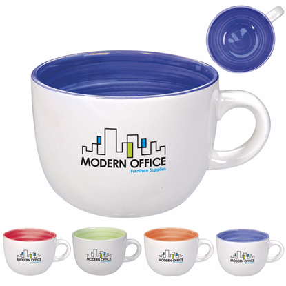 Picture of Hand Painted Circle Mug - 14 oz.