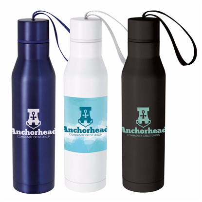 Picture of Vacuum Insulated Bottle with Carry Loop - 18 oz.