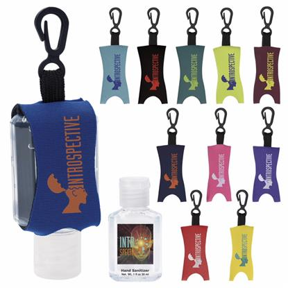 Picture of 1 oz. Custom Label Hand Sanitizer with Leash