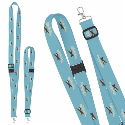 "Picture of 1"" Adjustable Polyester 4 Color Lanyard"