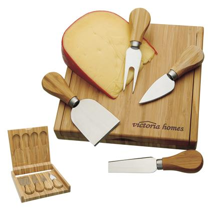 Picture of Bamboo Cheese Set