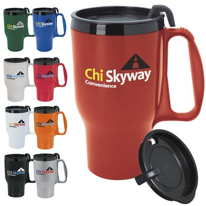 Picture of Budget Traveler Mug with Slider Lid - 16 oz.