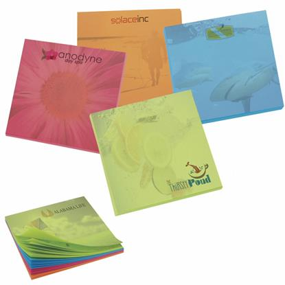"""Picture of BIC® 3"""" x 3"""" Bright Colored Paper Adhesive Notepad, 100 Sheet Pad"""