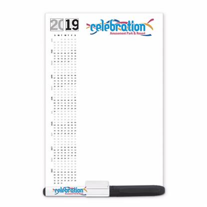 Picture of BIC® 20 Mil Dry-Erase Magnet with Marker and Clip
