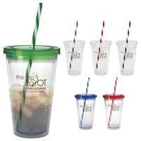 Picture of Translucent Candy Cane Tumbler - 18 oz.