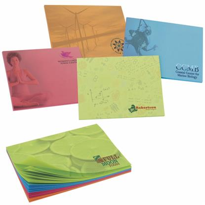 """Picture of BIC® 4"""" x 3"""" Bright Colored Paper Adhesive Notepad, 50 Sheet Pad"""