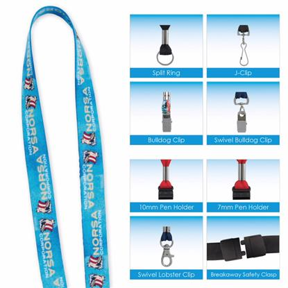 "Picture of 1/2"" 'Fine Print' Lanyard"