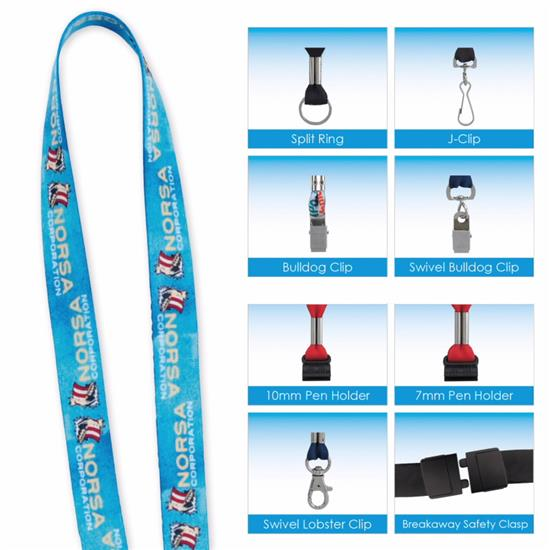 """Picture of 1/2"""" 'Fine Print' Lanyard"""