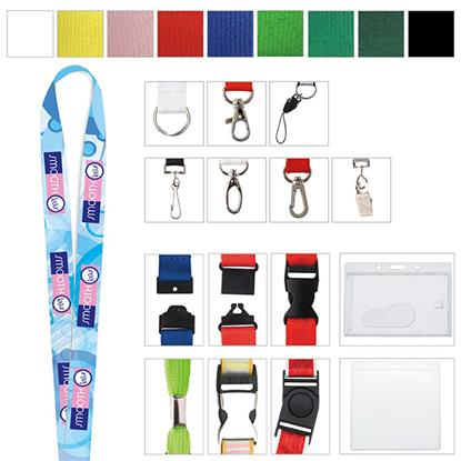 "Picture of 3/4"" Polyester 4 Color Lanyard"