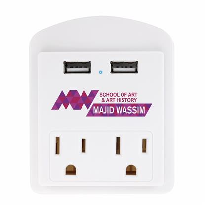 Picture of Modern USB Wall Adapter with Phone Holder