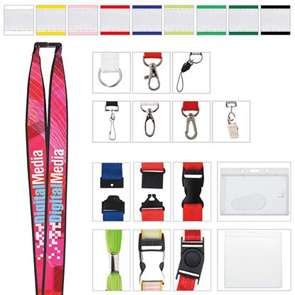 "Picture of 1"" Polyester Lanyard with Ribbon (Heat Transfer)"