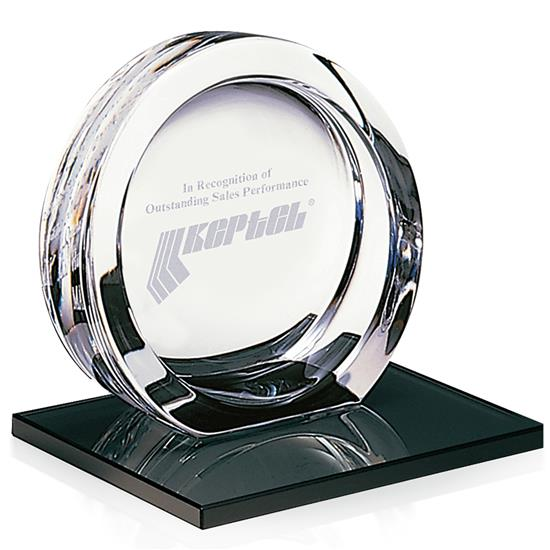 Picture of High Tech Award on Black Glass Base - Medium