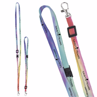 "Picture of 3/8"" Adjustable Polyester 4 Color Lanyard"