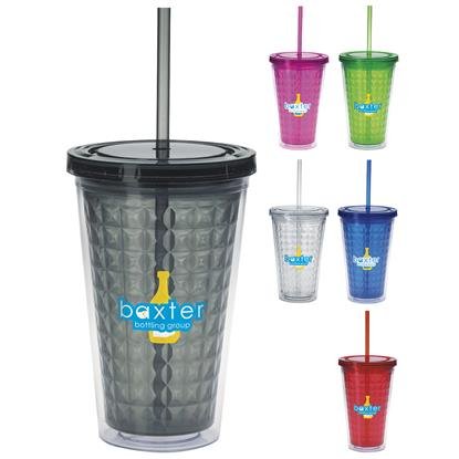 Picture of Double Wall Diamond Pattern Tumbler - 18 oz.