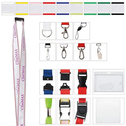 "Picture of 3/4"" Polyester Lanyard with Ribbon"