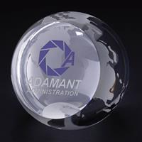 "Picture of Globe Paperweight 3-1/8"" Dia"