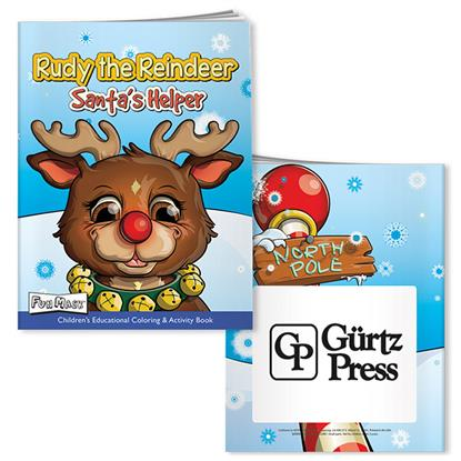 Picture of Coloring Book with Mask: Rudy Reindeer
