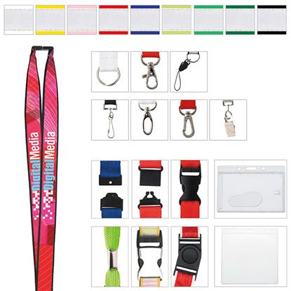 "Picture of 3/4"" Polyester Lanyard with Ribbon (Heat Transfer)"