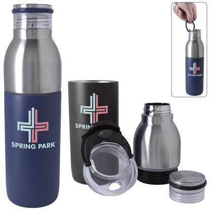 Picture of Active 2-in-1 Vacuum Bottle Tumbler - 22 oz.