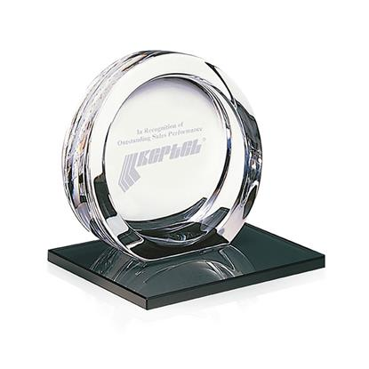 Picture of High Tech Award on Black Glass Base - Small