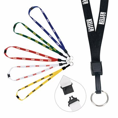"Picture of 1/2"" Breakaway Lanyard with Key Ring"