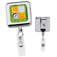 Picture of Square Metal Retractable Badge Holder