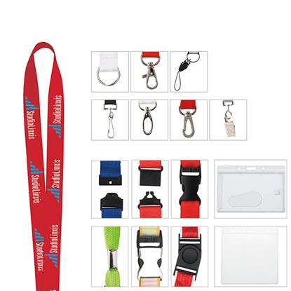 "Picture of 1"" Polyester Woven Lanyard"