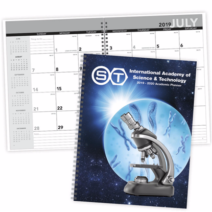 Picture of Academic Year Desk Planner with Custom Cover