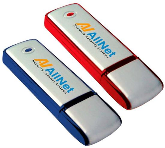 Picture of 8 GB Square Two-Tone USB 2.0 Flash Drive