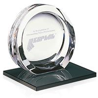 Picture of High Tech Award on Black Glass Base - Large
