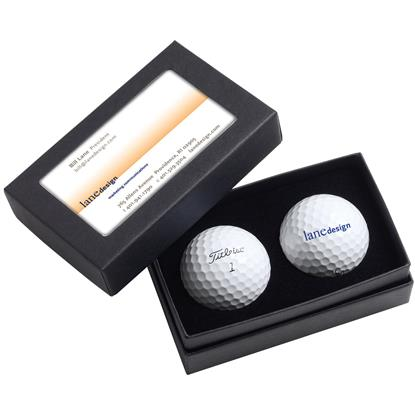 Picture of Titleist® 2-Ball Business Card Box - Pro V1®