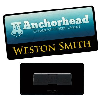 "Picture of 3"" x 1-1/2"" Metal Label/Engraved Combo Name Tag"