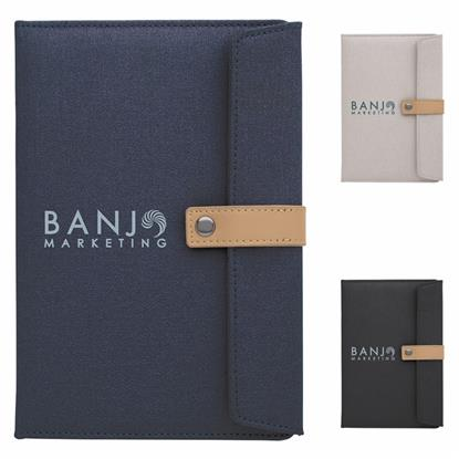Picture of Two-Tone Journal with Leather Closure