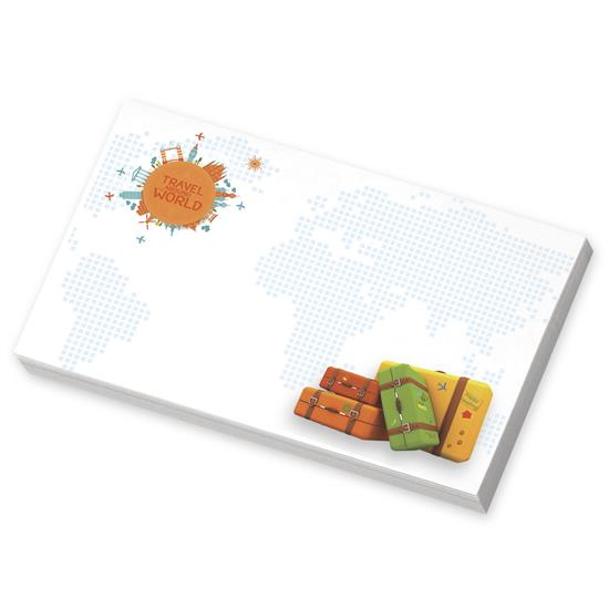 """Picture of BIC® Ecolutions® 5"""" x 3"""" Adhesive Notepad, 25 Sheet Pad"""