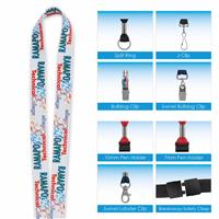 """Picture of 3/4"""" 'Fine Print' Lanyard"""