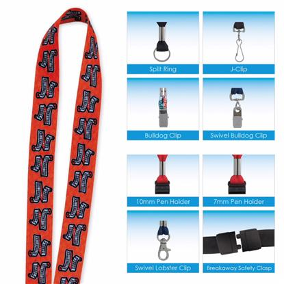 "Picture of 1"" 'Fine Print' Lanyard"
