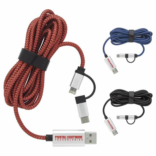 Picture of 8ft Dual Charging Cable with USB-C