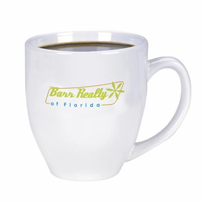 Picture of Shiny Bistro Mug - 15 oz. (white)