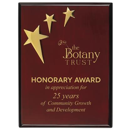 Picture of 3-Star Piano Finish Plaque