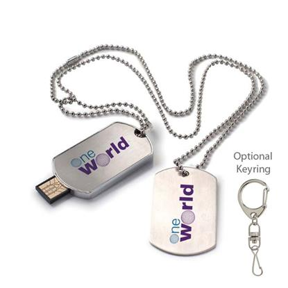 Picture of 4 GB Dog Tag USB 2.0 Flash Drive