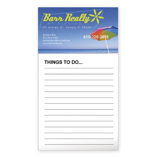 Picture of BIC® Business Card Magnet with 50 Sheet Notepad