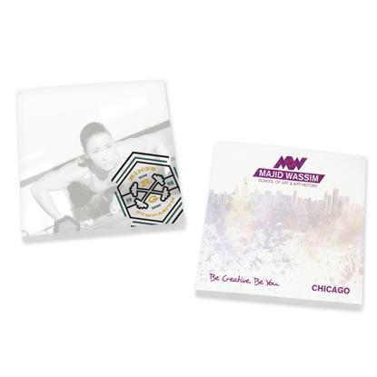 "Picture of BIC® 3"" x 3"" Adhesive Notepad, 25 Sheet Pad"