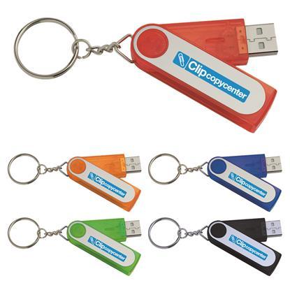 Picture of 512 MB Folding Keyring USB 2.0 Flash Drive