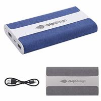 Picture of Cloth Coated Light up Logo Power Bank 6000 mAh