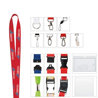 "Picture of 5/8"" Polyester Woven Lanyard"